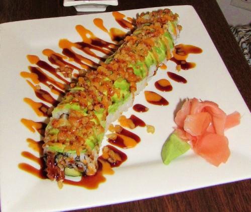 The Dragon Roll at Maki Sushi