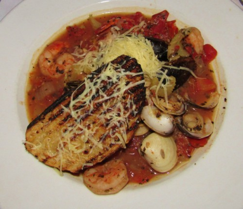 My Tuscan Seafood Stew at Andante in Chelan