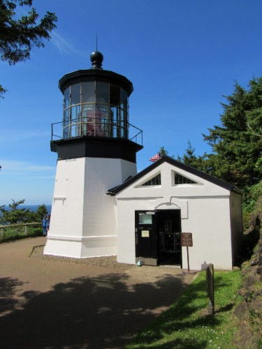 The Cape Meares Light - built in 1890 - 38' tall