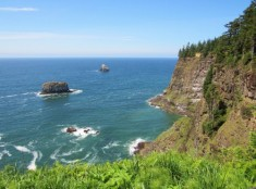 The view at Cape Meares - perfect for watching seabirds or the annual whale migration
