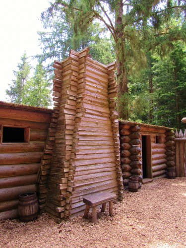 Inside Fort Clatsop