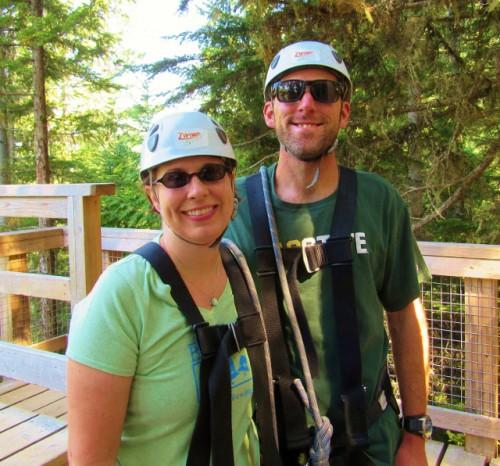 Jon and me on our zipline tour