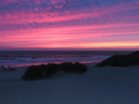 A stunning sunset at the Nehalem Bay Campground.