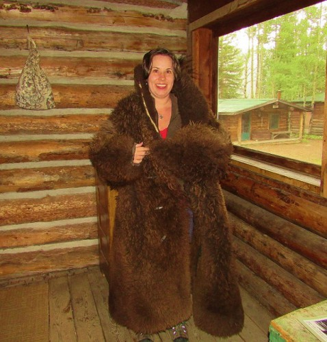Me, wearing a Bear Coat