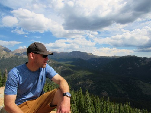 Jon taking in the view at Rocky Mountain National Park