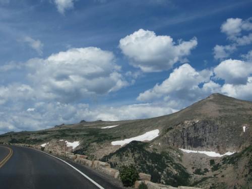 Trail Ridge Road heading up through the tundra