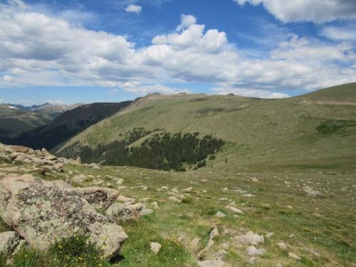 The beautiful tundra view at 11,000 feet