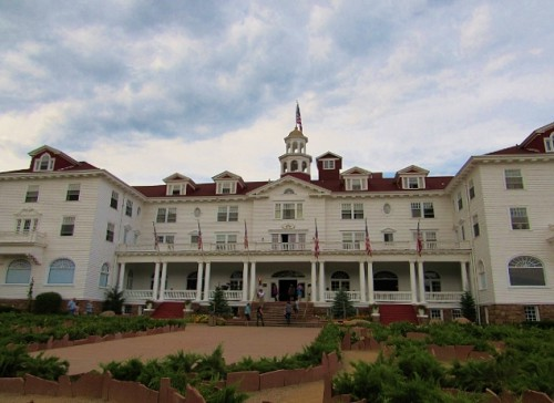 The Stanley Hotel - it is impossible to get far enough back to get the whole hotel in one picture.