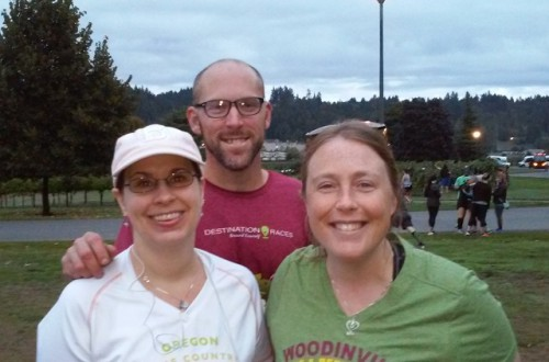 Me, Jon and Katie, before the race
