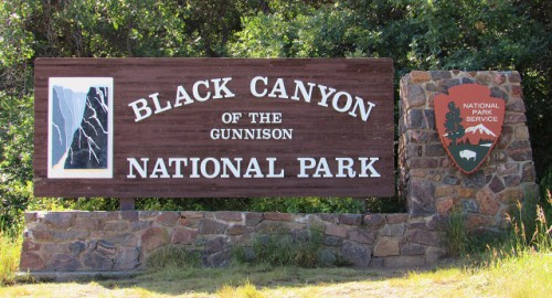 I love the sign at Black Canyon of the Gunnison National Park!