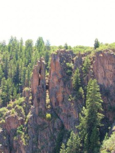 Rock formations at Black Canyon