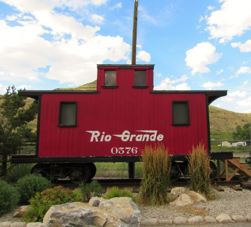 A caboose that has found it way to downtown Salida