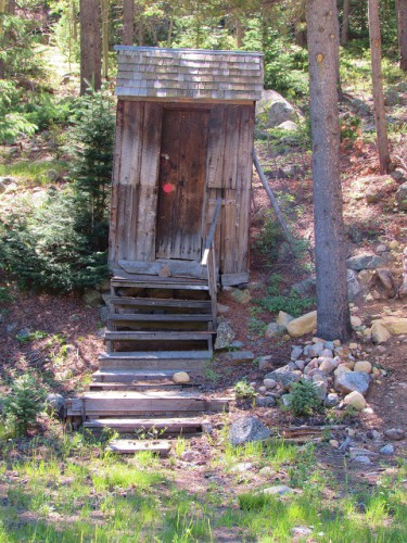 An old outhouse in St. Elmo