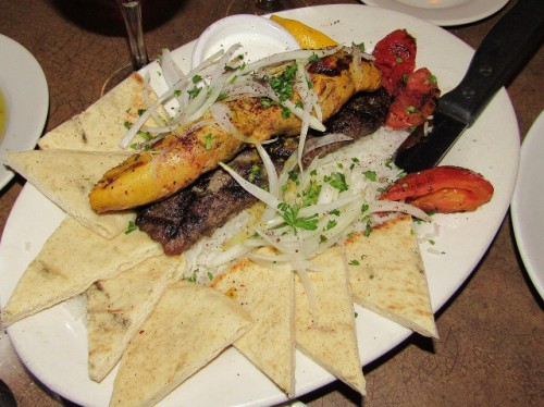 Our Caspian Kebab Platter - it was so delicious!