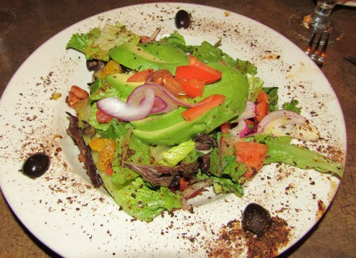 Our Avocado, Orange and Almond Salad - Yummy!