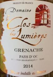 2014 Domaine Le Clos des Lumieres - Grenache
