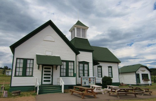 The historic Florissant School, in Florissant, Colorado