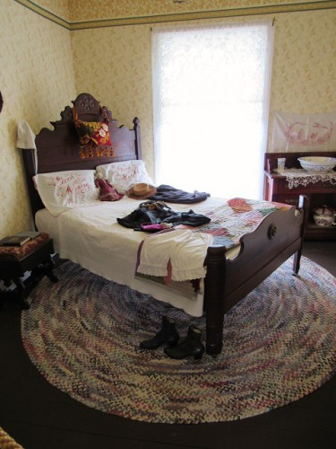 A bedroom in the Healy House