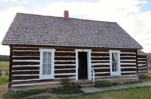 The Hornbek Cabin - larger and nicer than most during the period.