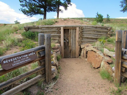 The root cellar at the Hornbek Homestead - you can't go inside due to the risk of Hanta virus