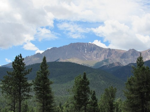 Pikes Peak from a distance