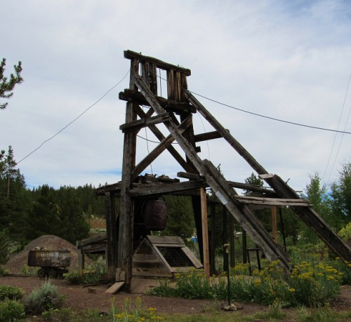 One of the mine shafts at the Matchless Mine.