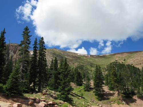 The treeline on Pikes Peak
