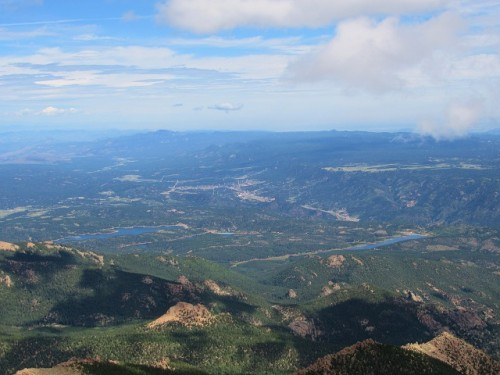 The view from the summit of Pikes Peak