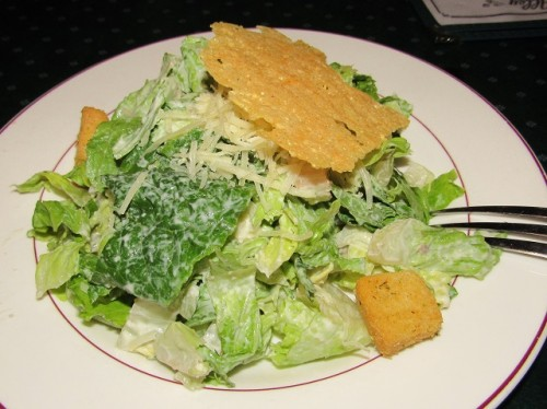My Caesar salad at Brewer's Alley - that cheesy, bread flake thing was really yummy!