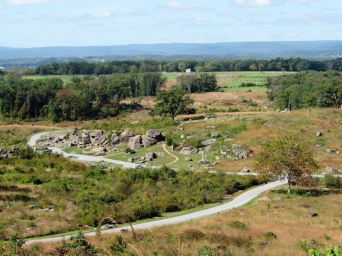 Looking down at Devil's Den from Little Round Top