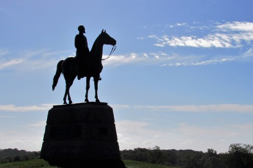 Another of the many statues featuring horses at Gettysburg.