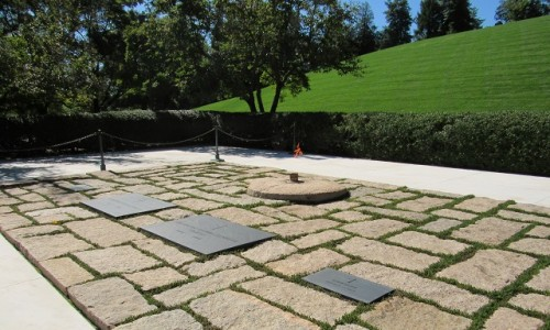 John F. Kennedy's grave - with the Eternal Flame.