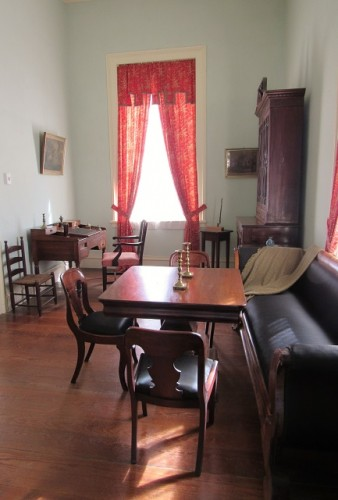 Lee's office, where he wrote the letter resigning his commission in the U.S. Army.