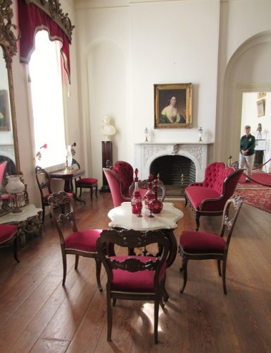 Robert E. and Mary Lee's furniture in the parlor at Arlington House