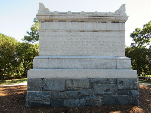 The Tomb of the Unknown Civil War Soldier - the remains of 2.111 Civil War unknown soldiers are buried here.