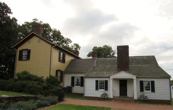 Ash-Lawn Highland - the small white house is what Monroe purchased - the white room on the left was added while Monroe was here. The yellow home was added by subsequent owners.