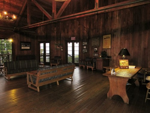 The common room at the Big Meadows Lodge, Shenandoah National Park