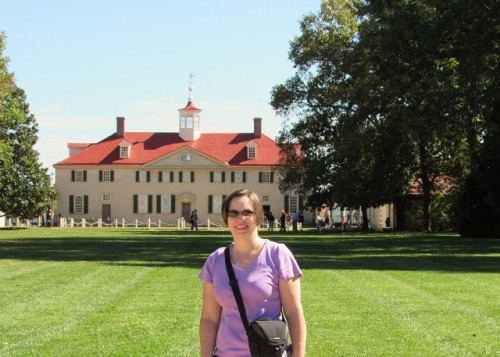 Me in front of Mount Vernon