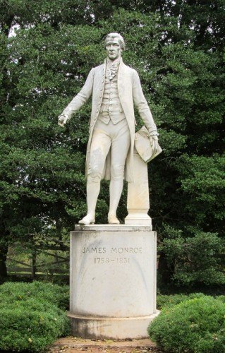 A statue of James Monroe - originally destined for South America