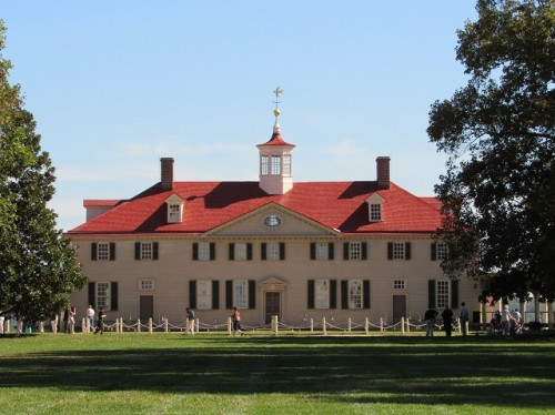 The Front of Mount Vernon - see how it isn't quite symmetrical?