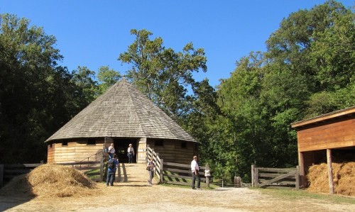 The Treading Barn at Mount Vernon - this one was reconstructed in 1996.