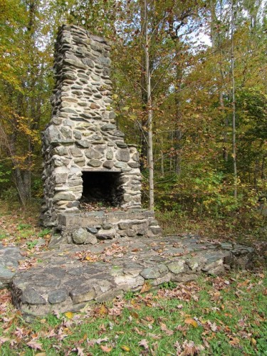 The outdoor fireplace at Rapidan Camp - many a political deal was struck here, I'm sure.