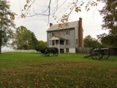The Peers House - from this site the Army of Northern Virginia fired its artillery for the last time in battle.