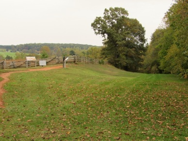 Part of the Richmond Lynchburg Stage Road - Grant and Lee had one of their meetings near the signs on the left.