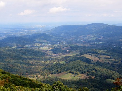 Looking down at the Shenandoah Valley from Skyline Drive