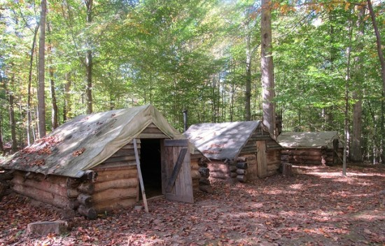 The Confederate Winter Camp of the Army of Northern Virginia - a reconstruction.