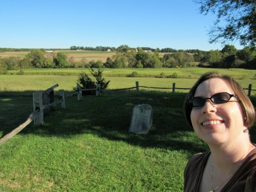 Selfie with Stonewall Jackson's arm's grave. Is that weird?