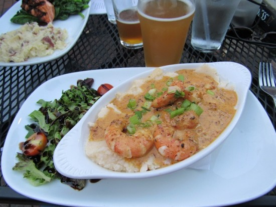 My shrimp and grits at J. Brian's Taphouse