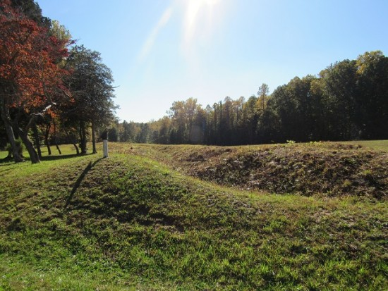 Earthworks at Spotsylvania Court House Battlefield. Would you have known?