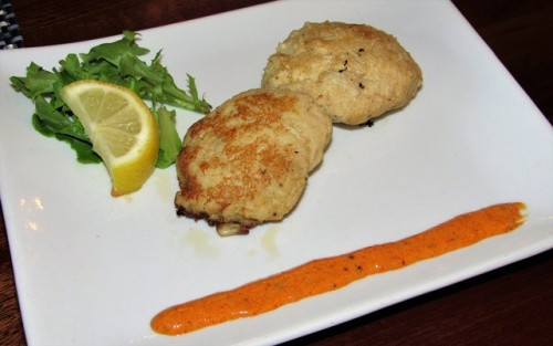 My crabcakes at the Stratford Hall restaurant